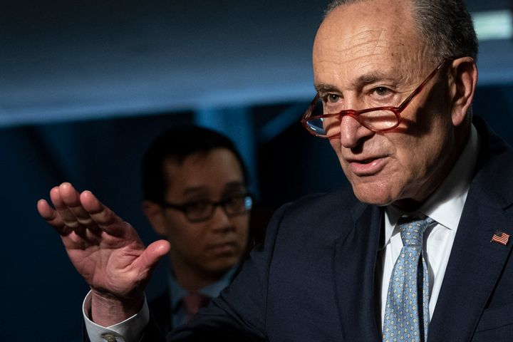 Senate Minority Leader Chuck Schumer and other Democrats rolled out their hazard pay plan on Tuesday.