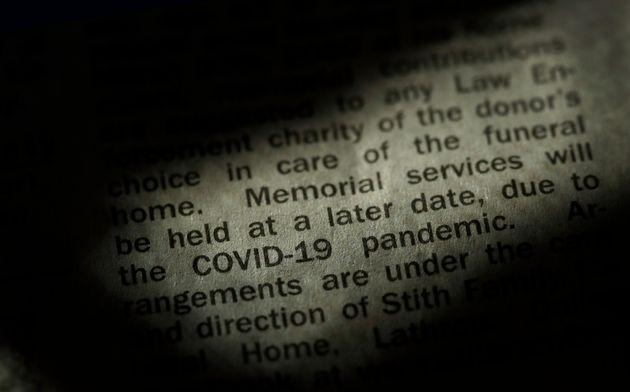 カンザスシティスター新聞の死亡記事には、COVID-19パンデミックが伝統的な...