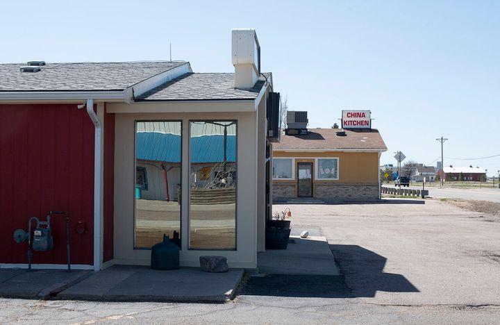 It's quiet around Next Door Health Care, the only business in the building deemed essential.