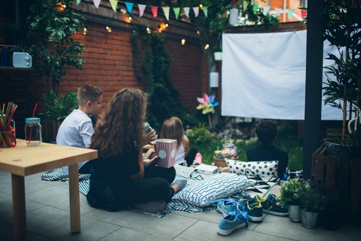 Turn your backyard or porch into a movie night spot.