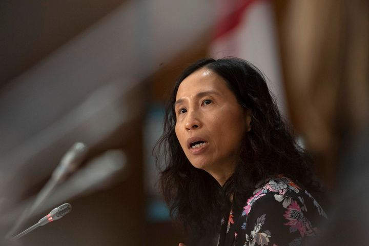 Chief Public Health Officer Theresa Tam responds to a question during a news conference in Ottawa on April 7, 2020.