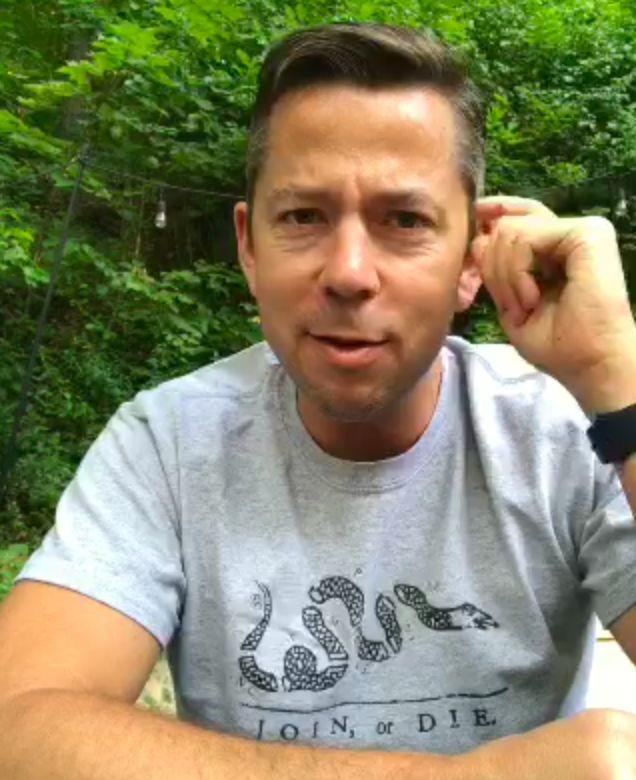 Jeff Giesea talks politics in a Periscope video.