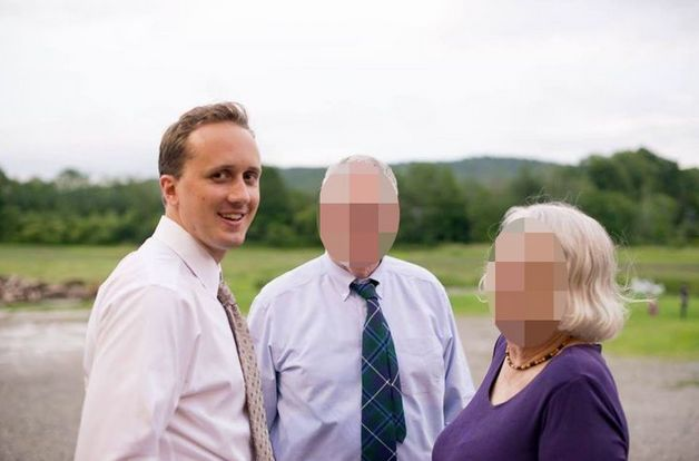 A photo posted by neo-Nazi Christopher Cantwell identifying Douglass Mackey, left.