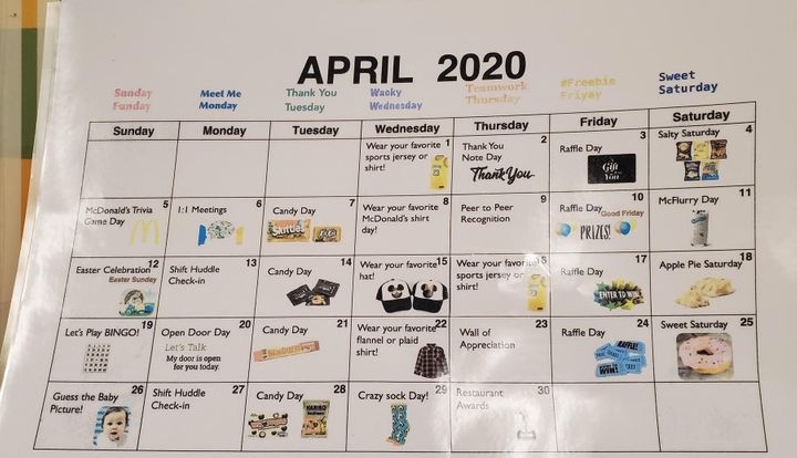 This calendar posted in a Los Angeles McDonald's is drawing employee ire.