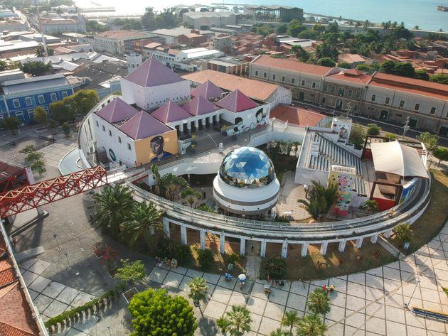 Vista área do centro Dragão do Mar, uma das principais atrações culturais...