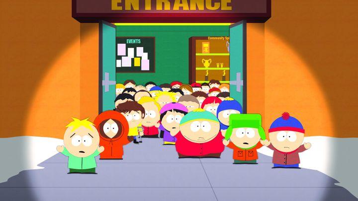 「サウスパーク」Netflixにて配信中。※水色の帽子をかぶっているのがカートマン。