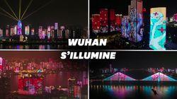 Wuhan s'illumine pour fêter la réouverture des