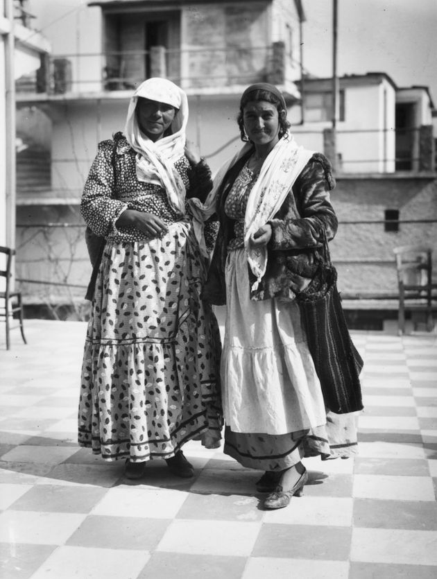 circa 1930: Greek gypsies in traditional clothing. (Photo by Hulton Archive/Getty