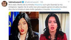 """Sabina Guzzanti: """"Mi hanno detto che la Azzolina mi imita..."""". E la ministra"""