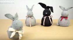 Estos conejos están hechos con calcetines viejos: te contamos cómo