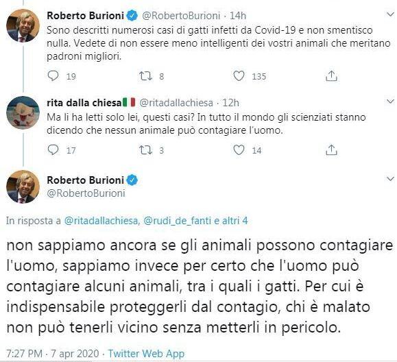 Lo scambio di Tweet tra Burioni e Rita Dalla