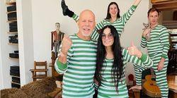 Divorcés mais confinés ensemble, Bruce Willis et Demi Moore posent en
