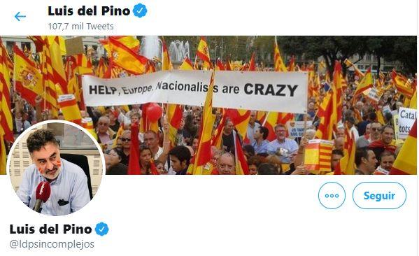Home de Twitter de Luis del