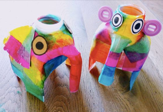 Elephants, Jack (left) and Esther (right)