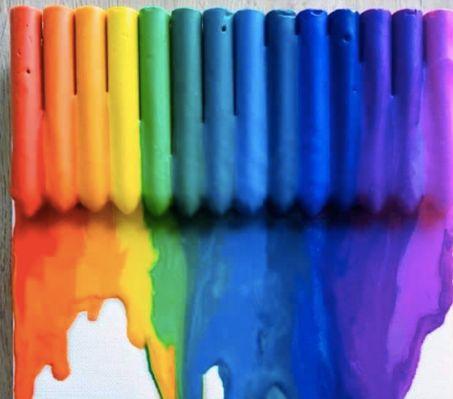 Glue gun rainbow