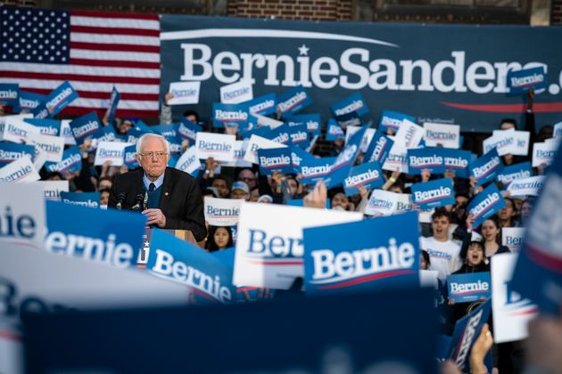 U.S. Sen. Bernie Sanders appears in Ann Arbor, Mich., for a campaign rally on March 8. Sanders had...