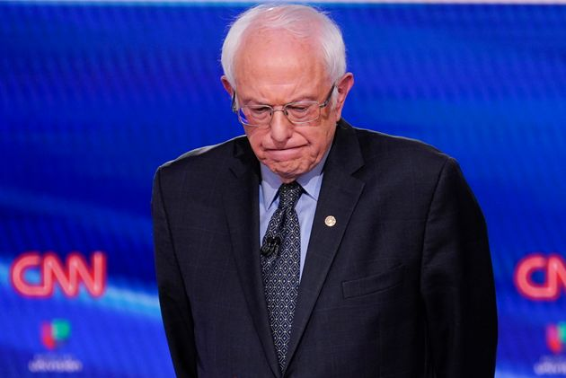 Sen. Bernie Sanders, I-Vt., participates in a Democratic presidential primary debate at CNN Studios in...