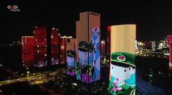 Lo spettacolo di luci a Wuhan per celebrare la fine del lockdown
