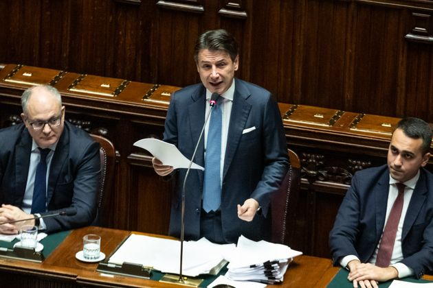 ROME, ITALY - 2019/12/02: The Italian Prime Minister Giuseppe Conte, the Italian Minister of Economy,...