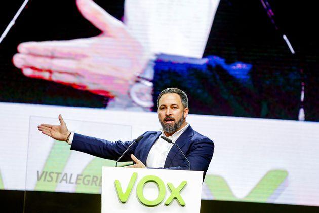 Santiago Abascal, presidente de Vox, en