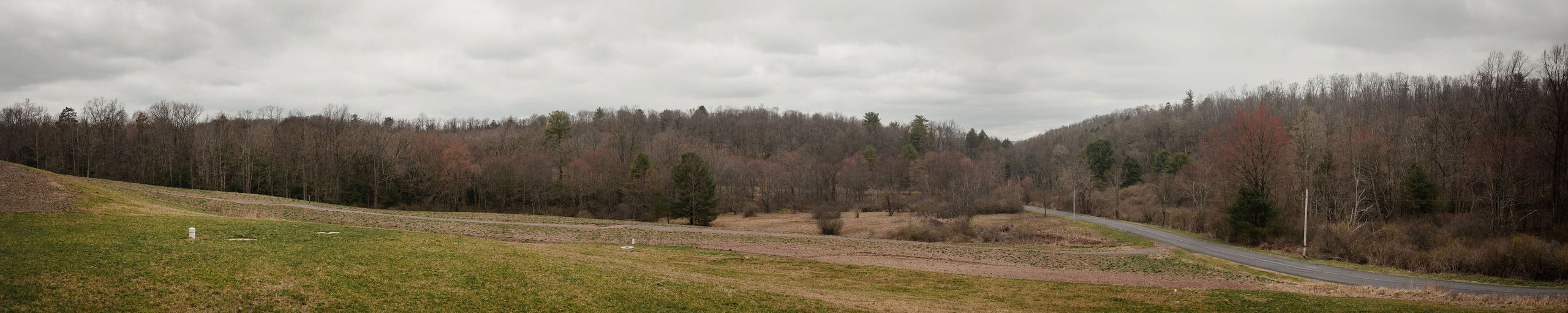 A stitched panoramic image of Wayne Brensinger's farm in Auburn, Pennsylvania.