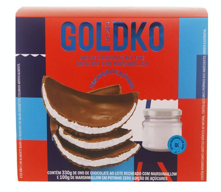 Ovo GoldKo de Chocolate ao Leite Recheado com Marshmallow