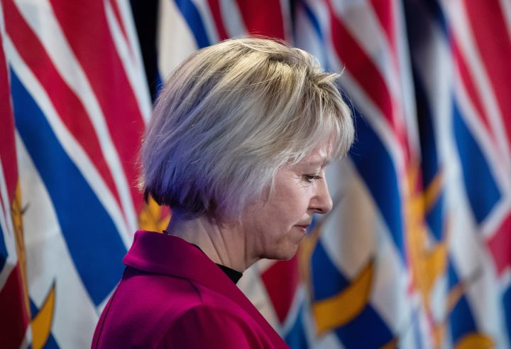 Provincial health officer Dr. Bonnie Henry listens during a news conference about B.C.'s response to the coronavirus in Vancouver on March 6, 2020.