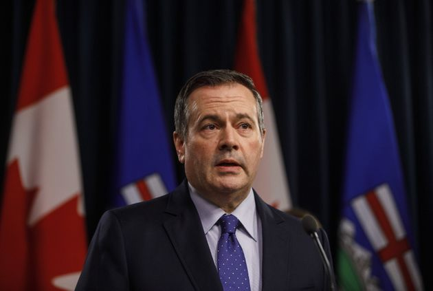 Alberta Premier Jason Kenney updates media on measures taken to help with COVID-19, in Edmonton on March...