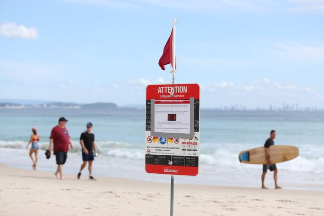 A number of major Gold Coast beaches were closed from midnight on Tuesday over COVID-19
