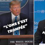 Passe d'armes entre Trump et l'OMS sur la gestion de