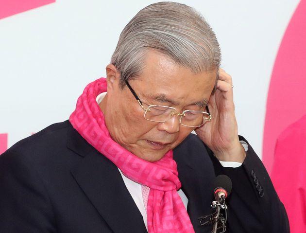 서울 여의도 국회에서 기자회견을 연 김종인 통합당 총괄선대위원장. 2020. 4.