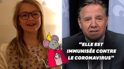 Cette petite fille s'inquiète pour la petite souris, le Premier ministre québécois lui