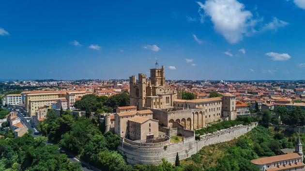 Une vue aérienne de Béziers. (photo