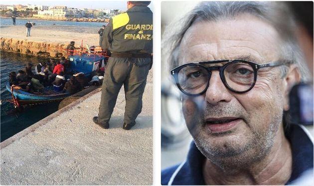 Migranti arrivati a Lampedusa il 7 aprile - il sindaco dell'isola, Totò