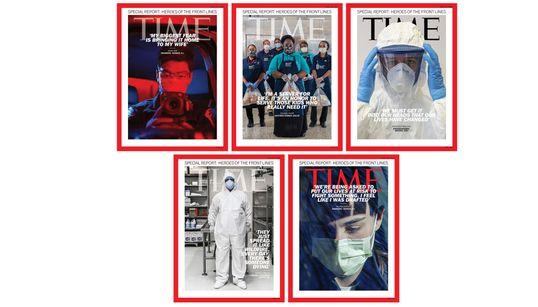 """ANCHE UN ITALIANO - Sulla copertina del Time gli """"eroi in prima linea"""" nella lotta a"""