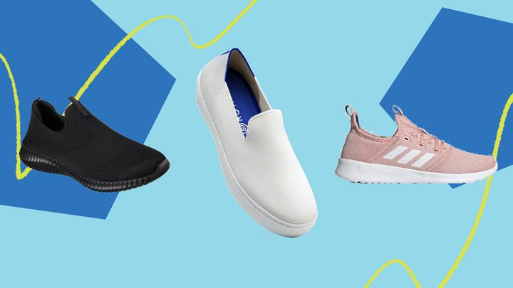 """While you might not want to lace up a pair of clunky sneakers to wear around your home, there are a lot of lightweight slip-on sneakers &mdash; some you can even <a href=""""https://www.huffpost.com/entry/10-of-the-best-shoes-to-wear-without-socks-that-wont-sweat-or-smell_l_5cc09bd6e4b0764d31dbe80a"""" target=""""_blank"""" rel=""""noopener noreferrer"""">wear without socks</a> &mdash;&nbsp;that suitable for indoors."""
