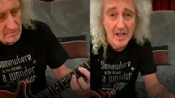 El tutorial de Brian May para tocar con la guitarra el 'We are the champions'