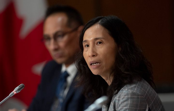 Chief Public Health Officer Theresa Tam responds to a question a news conference in Ottawa on April 9, 2020.