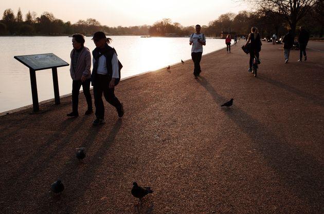 Un parque en Londres, este