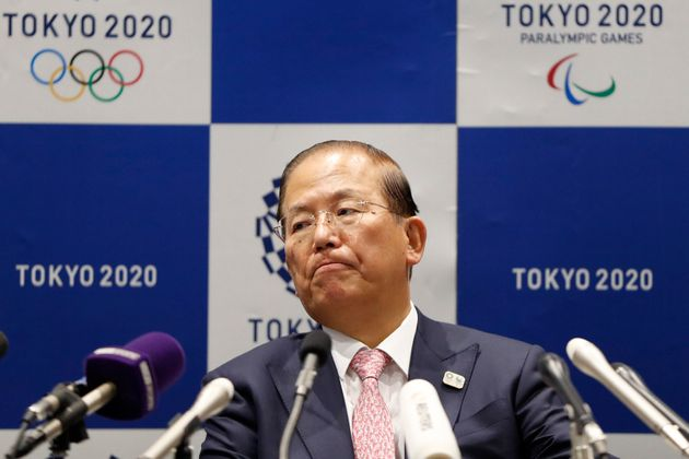 Tokyo 2020 Organizing Committee CEO Toshiro Muto attends a news conference after a Tokyo 2020 Executive...