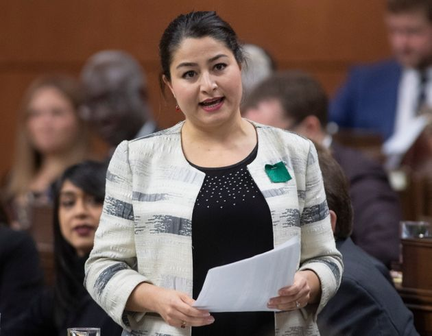 Women and Gender Equality and Rural Economic Development Minister Maryam Monsef responds to a question...