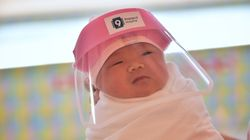 These Newborns Are Getting Baby-Sized Face Shields To Protect Them From
