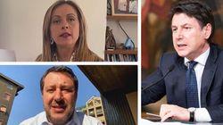 Meloni e Salvini reagiscono all'attacco di Conte: