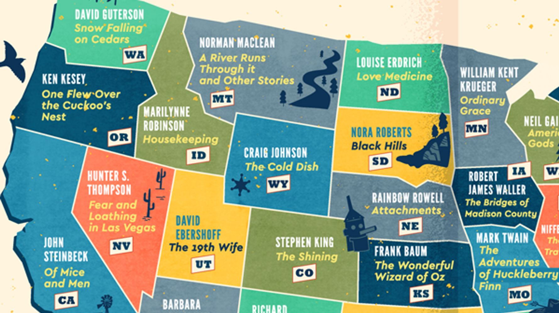 These Are The Most Popular Books Set In Every State