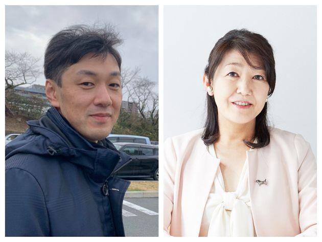 沢渡あまねさん(左)、白河桃子さん(右)