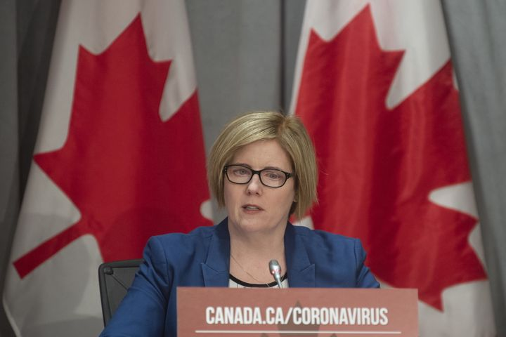 Employment, Workforce Development and Disability Inclusion Minister Carla Qualtrough speaks during a news conference in Ottawa on Thurs. March 26, 2020.