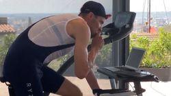 Confiné, il réalise un Ironman de 226 km chez