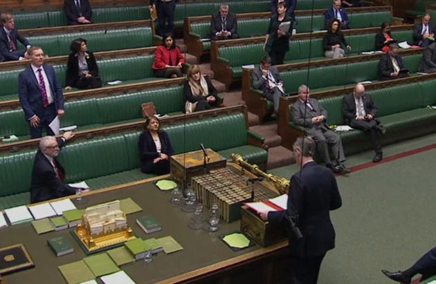 MPs were observing social distancing rules before parliament broke up for