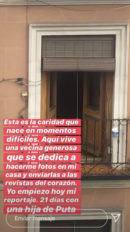 Publicación de Jaime Lorente en Instagram Stories el sábado 11 de abril de