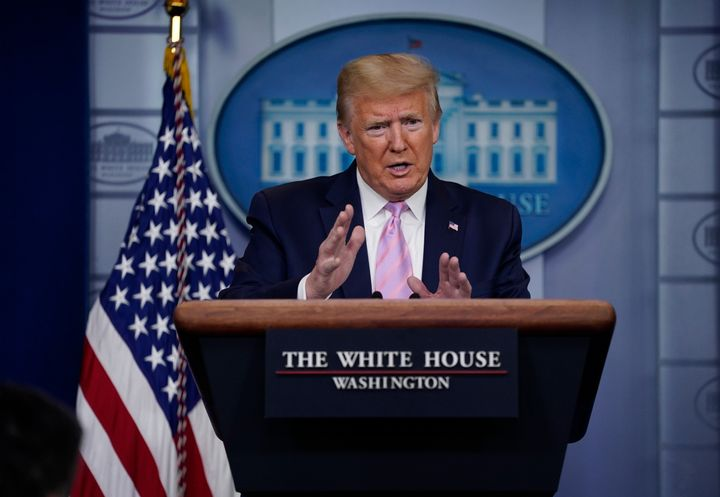 At a coronavirus task force briefing at the White House on Friday, President Donald Trump said he doesn't believe a national